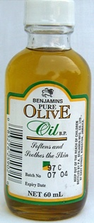 BENJAMINS PURE OLIVE OIL 120 ML 