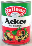 Juliana Ackee in Brine. One half of Jamaica's national dish, Ackee and Salt Fish.  Ackee. Jamaican food. Caribbean Food. West Indian Food. Caribbean, Jamaica, west indian, recipe, traditional.  Caribbean Islands. Caribbean products.  Caribbean online store.