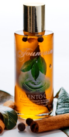 Fountain Pimento Oil: This excellent, all-natural pain medication, relaxant, moisturizer and skin toner.  Available also at Sam's Caribbean Marketplace, Hempstead, NY 11550. Shop Sam's for the best prices on Caribbean food: Jamaica food, Trinidadian food, Barbadian food, Guyanese food, St. Lucian food, as well as the our world famous Jamaican Black Castor Oil.