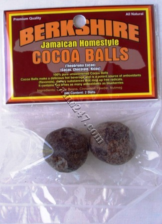 BERKSHIRE JAMAICAN HOMESTYLE CHOCOLATE BALLS (2 per pack) 