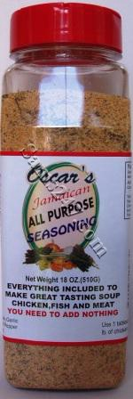 OSCAR'S JAMAICAN ALL PURPOSE SEASONING 18 OZ. 