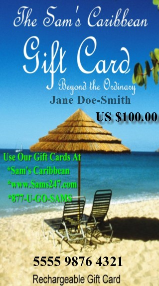 CARIBBEAN $100 GIFT CARD SPECIAL OFFER 