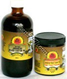 Tropic Isle Jamaican Black Castor Oil (JBCO) 4 oz. and 8 oz. bottles.  Jamaican Black Castor Oil (JBCO) is believed to have many healthful properties.  Unrefined castor oil made from Jamaican castor beans. A traditional jamaican folk remedy. Traditional jamaican folk use castor oil to induce labor.